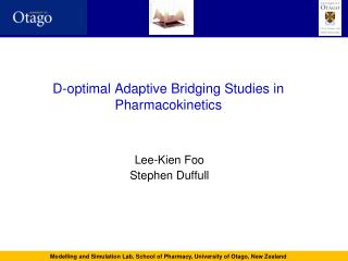 D-optimal Adaptive Bridging Studies in Pharmacokinetics