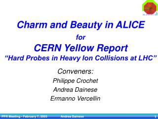 "Charm and Beauty in ALICE for CERN Yellow Report ""Hard Probes in Heavy Ion Collisions at LHC"""