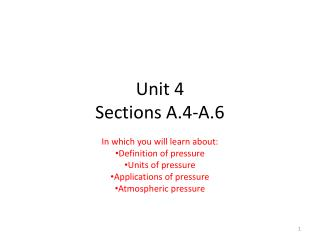Unit 4 Sections A.4-A.6