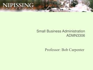 Small Business Administration ADMN3306