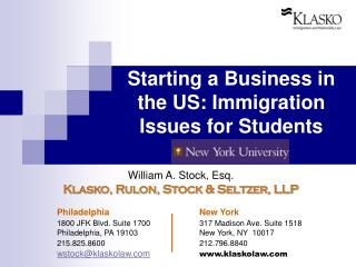 Starting a Business in the US: Immigration Issues for Students