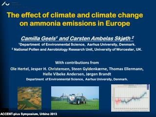 The effect of climate and climate change on ammonia emissions in Europe