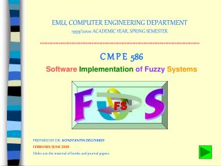 EMU, COMPUTER ENGINEERING DEPARTMENT 1999/2000 ACADEMIC YEAR, SPRING SEMESTER