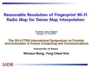 Reasonable  Resolution of Fingerprint Wi-Fi Radio Map for Dense Map  Interpolation