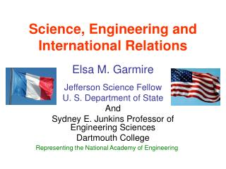 Science, Engineering and International Relations