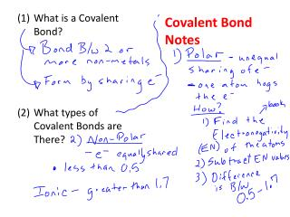 What is a Covalent Bond? What types of Covalent Bonds are There?