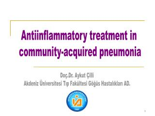 Antiinflammatory treatment in  community-acquired pneumonia