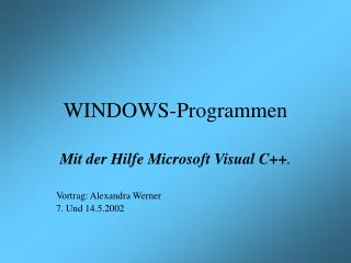 WINDOWS-Programmen