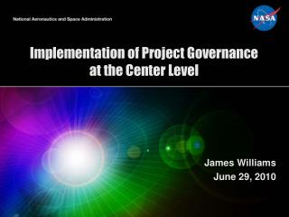 Implementation of Project Governance at the Center Level