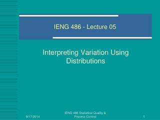 IENG 486 - Lecture 05