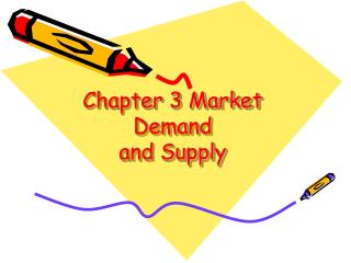 Chapter 3 Market Demand and Supply