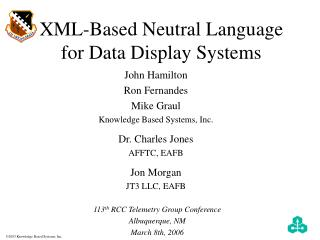 XML-Based Neutral Language  for Data Display Systems