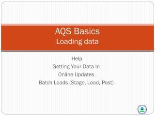 AQS Basics Loading data