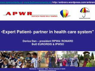 Expert Patient- partner in health care system""