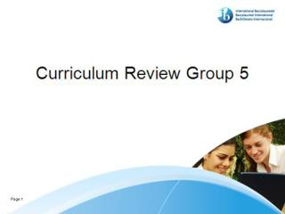 Mathematical Studies SL  Curriculum Review