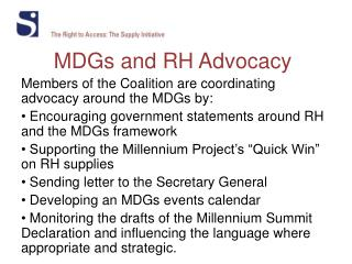 MDGs and RH Advocacy