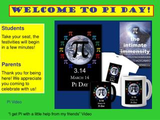 Welcome to Pi Day!