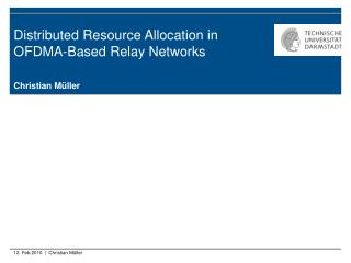 Distributed Resource Allocation in OFDMA-Based Relay Networks