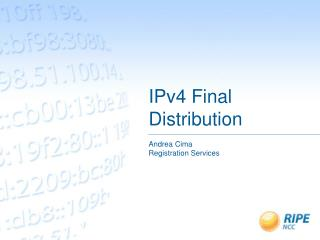 IPv4 Final Distribution