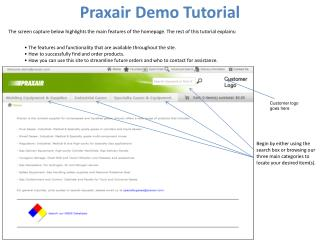 Praxair Demo Tutorial