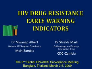 HIV Drug Resistance  Early Warning Indicators