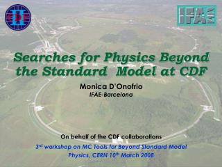 Searches for Physics Beyond the Standard  Model at CDF
