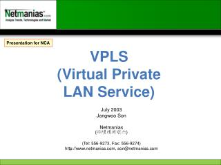 VPLS (Virtual Private LAN Service)
