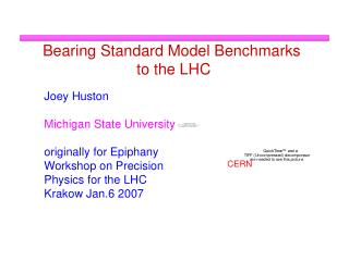 Bearing Standard Model Benchmarks  to the LHC