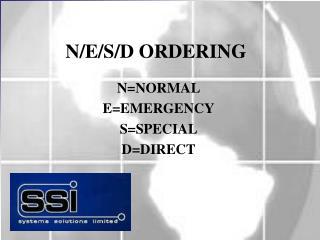 N/E/S/D ORDERING
