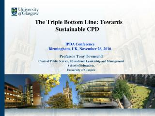 The Triple Bottom Line: Towards Sustainable CPD