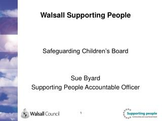 Walsall Supporting People