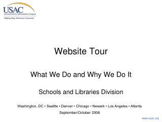 Website Tour