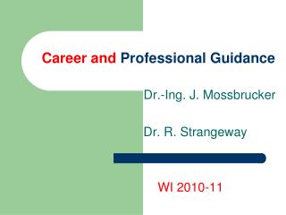 Career and  Professional Guidance