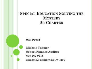 Special Education Solving the Mystery 2r Charter