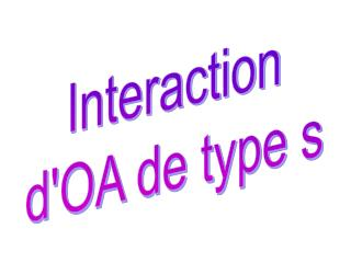 Interaction d'OA de type s