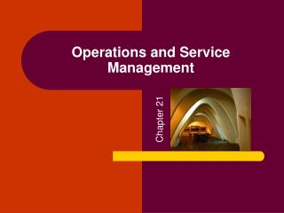 Operations and Service Management