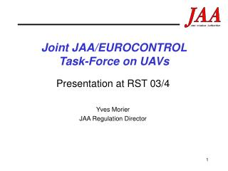 Joint JAA/EUROCONTROL  Task-Force on UAVs