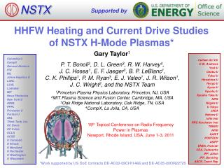 HHFW Heating and Current Drive Studies of NSTX H-Mode Plasmas*