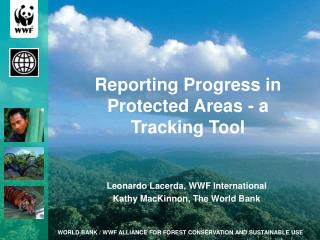 Reporting Progress in Protected Areas - a  Tracking Tool