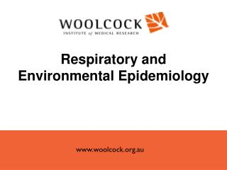 Respiratory and Environmental Epidemiology
