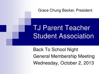 TJ Parent Teacher Student Association