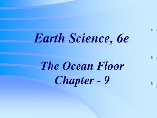 Earth Science, 6e