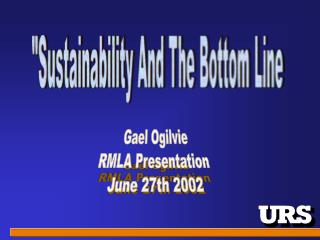 """Sustainability And The Bottom Line"
