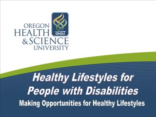 Healthy Lifestyles for People with Disabilities