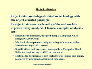 The  Object Database