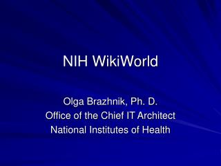 NIH WikiWorld