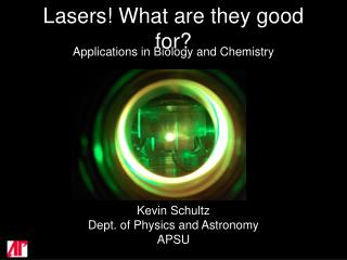 Lasers! What are they good for?