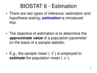 BIOSTAT 6 - Estimation