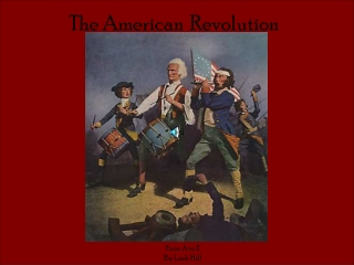 Some events leading up to the American Revolution