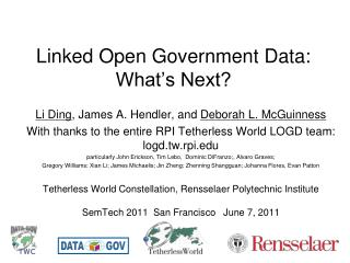 Linked Open Government Data: What's Next?